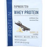 Sprouts Vanilla Whey Protein Packet