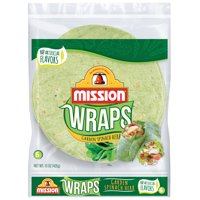 Mission Garden Spinach Herb Wraps, 6 Count