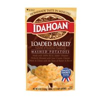 Idahoan Loaded Baked Mashed Potatoes - Gluten-Free, Real Idaho Potatoes - 1 Pouch (4 Servings)