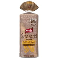 Sara Lee Artesano Golden Wheat Bakery Bread, Made with a Touch of Honey, Olive Oil & Sea Salt, 15 slices, 20 oz