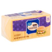 Great Value Deluxe American Pasteurized Process Cheese, 72 count, 48 oz