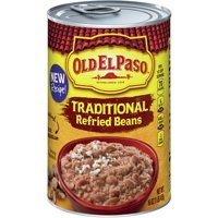 Old El Paso Traditional Refried Beans, 16 oz Can
