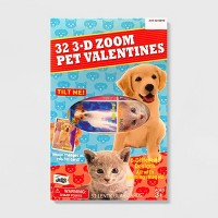 32ct 3D Zoom Pets Valentines With Zoom Cards - Mello Smello