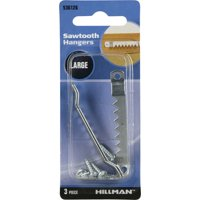 Hillman Large Sawtooth Hanger, 3 Piece