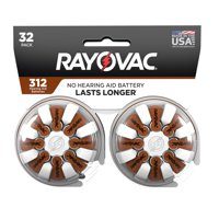 Rayovac Size 312 Hearing Aid Batteries, 32-Pack 312-32