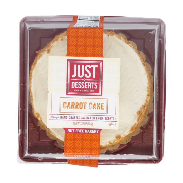 Just desserts Hand Crafted Carrot Cake, 22 oz