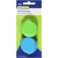 Flents Ezy Dose Pill Container with Snap-Shut Lid, 2 count