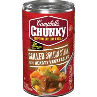 Campbell's Chunky Soup, Grilled Sirloin Steak & Hearty Vegetables Soup, 18.8 Ounce Can