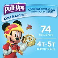 Pull-ups Boys' Cool & Learn Training Pants, Size 4T-5T, 74 Count