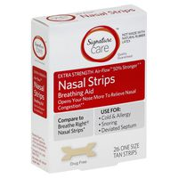 Signature Care Nasal Strips, Air-Flow, Extra Strength, Tan, One Size