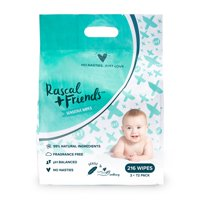 Rascal + Friends Sensitive Baby Wipes (Choose Your Count)