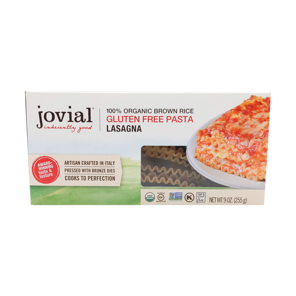 Jovial Brown Rice Lasagna Noodles, 9 oz