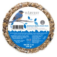 Harvest Seed & Supply Mealworm Medley Snack Stack Wild Bird Food, 9 oz.
