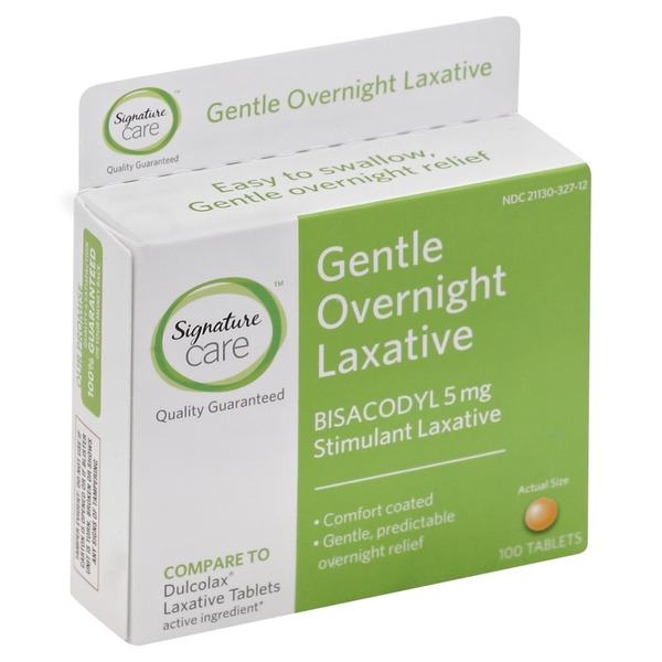 Signature Laxative, Gentle, Overnight, 5 mg, Tablets