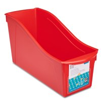 Storex Large Book Bin, Just Red