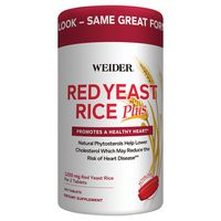 Weider Red Yeast Rice Plus 1200 mg Tablets, 240 ct