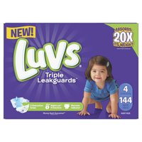 Luvs Triple Leakguards Diapers Size 4 144 Count