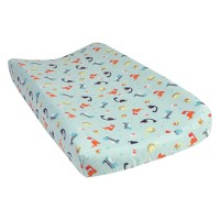 Trend Lab Deluxe Flannel Changing Pad Cover - Dinosaurs