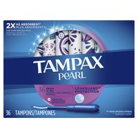 TAMPAX Pearl, Ultra, Plastic Tampons, Unscented, 36 Count