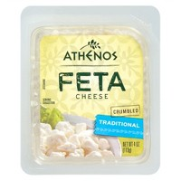 Athenos Crumbled Traditional Feta Cheese - 4oz