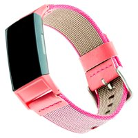 Woven Nylon Band for Fitbit® Charge 3™ - Pink