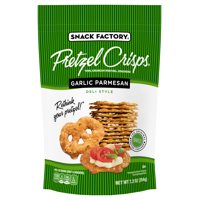 Snack Factory Garlic Parmesan Pretzel Crisps, 7.2 Oz