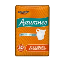 Assurance Incontinence Belted Shield Unisex, Moderate, One Size, 30 Ct