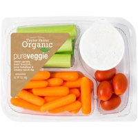 Taylor Farms Organic PureVeggie Snack Tray with Creamy Ranch Dip, 7 oz
