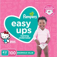 Pampers Easy Ups Training Underwear Girls Size 6 4T-5T 100 Count