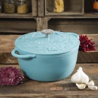 The Pioneer Woman Timeless Beauty 5-Quart Dutch Oven, Turquoise