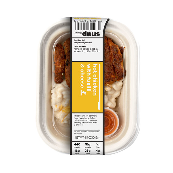 Snap kitchen Hot Chicken With Fusilli & Cheese, 9.5 oz