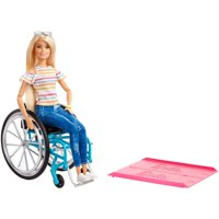 Barbie Fashionistas Doll, Blonde Hair with Wheelchair & Ramp