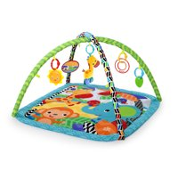 Bright Starts Zippy Zoo Activity Gym and Play Mat with Take-Along Toys, Ages Newborn +
