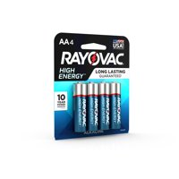 Rayovac High Energy Alkaline, AA Batteries, 4 Count