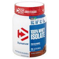 Dymatize Classic Chocolate 100% Whey Isolate Protein Powder, 28.2 oz