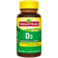 Nature Made Vitamin D3 2000 IU (50 mcg) Softgels - 90ct