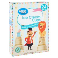 Great Value Ice Cream Cups, 3.5 Oz., 24 Count