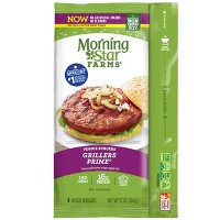 Morningstar Farms Grillers Prime Frozen Veggie Burgers - 4ct