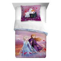 Disney's Frozen 2 Kids Twin/Full Reversible Comforter and Sham Set, Spirit of Nature