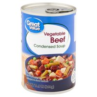 Great Value Vegetable Beef Condensed Soup, 10.5 oz