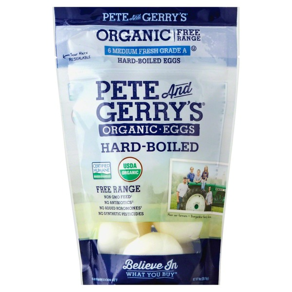 Pete and Gerrys Eggs, Organic, Hard-Boiled, Free Range