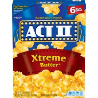 Act II Xtreme Butter Microwave Popcorn, 2.75 Oz, 6 Ct