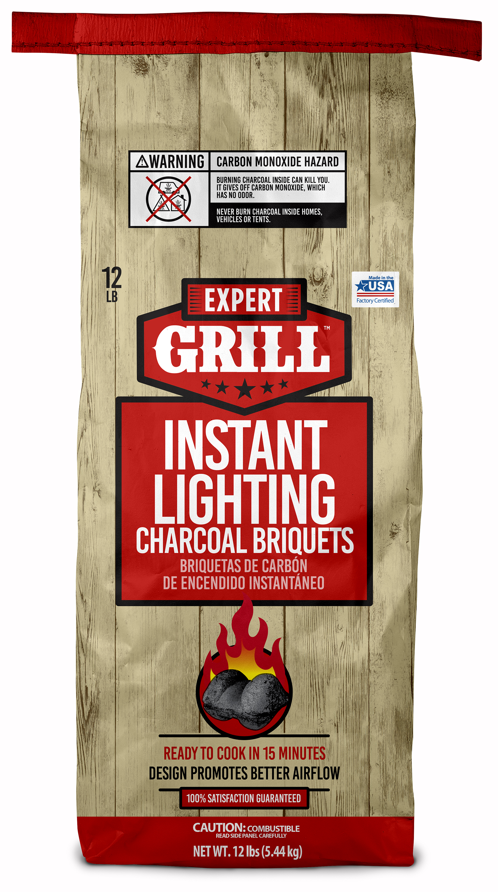 (2 pack) Expert Grill 12 Lb Instant Charcoal