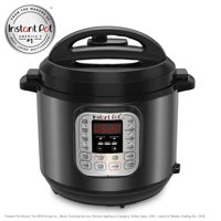 Instant Pot® DUO60 Black Stainless 6 Qt 7-in-1 Multi-Use Programmable Pressure Cooker, Slow Cooker, Rice Cooker, Sauté, Steamer, Yogurt Maker and Warmer
