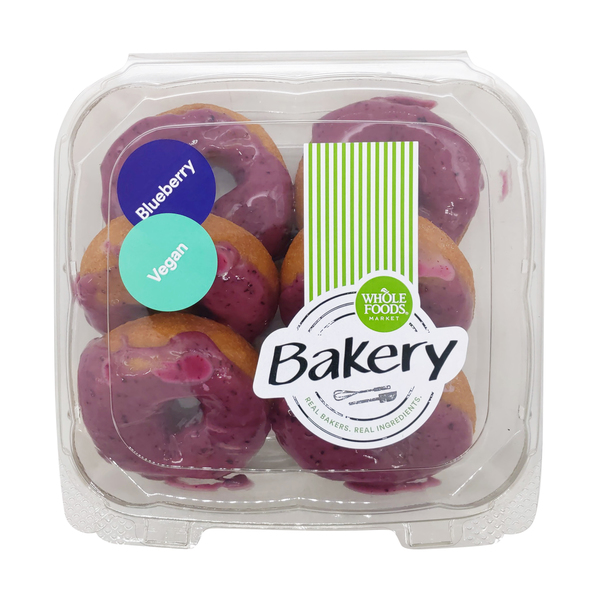 Whole foods market™ Vegan Blueberry Donuts 6 Count, 1 lb