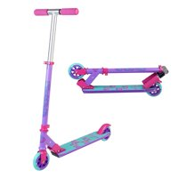 MADD GEAR CARVE 100 Purple Pink Teal - Folding Aluminum Kick Scooter - Suits Girls Ages 3+ - Max Rider Weight 146lbs - 3 Year Manufacturer Warranty - Built to Last! Madd Gear Est. 2002