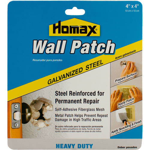 (3 Pack) Homax Wall Patch Heavy-Duty Galvanized Steel, 4