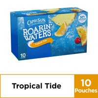 Capri Sun Roarin' Waters Tropical Tide Fruit Flavored Water, 10 ct - Pouches, 60.0 fl oz Box