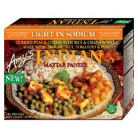 Amy's Light in Sodium Frozen Indian Mattar Paneer - 10oz