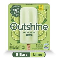 OUTSHINE Lime Frozen Fruit Bars, 6 Ct. Box | Gluten Free | Non GMO